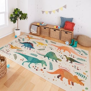 "Mohawk Prismatic Dino Jungle Area Rug - 3'4"" x 5'"