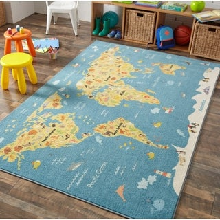 "Mohawk Prismatic Animal Map Area Rug - 3'4"" x 5'"