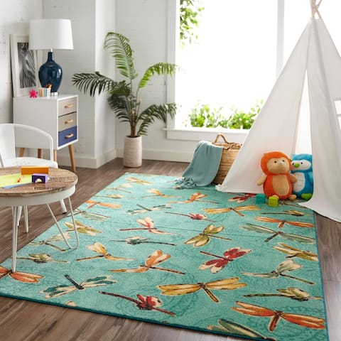 "Mohawk Prismatic Summer Dragonflies Area Rug - 3'4"" x 5'"