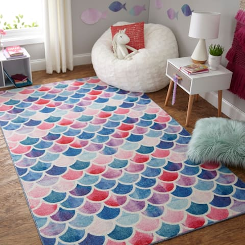 Porch & Den Larry Mermaid Scales Area Rug