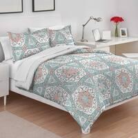 Utica Teresa Teal Cotton Comforter Set