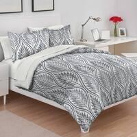 Utica Shelby Blue Cotton Comforter Set