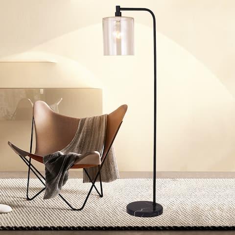 Varde Matte Black 1-light Floor Lamp