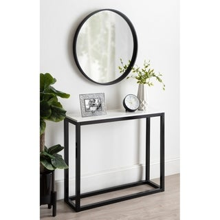 Kate and Laurel Carmella Man-Made Marble Top Console Table