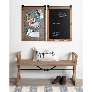 Kate and Laurel Cates Barn Door Wood-framed Magnet Board