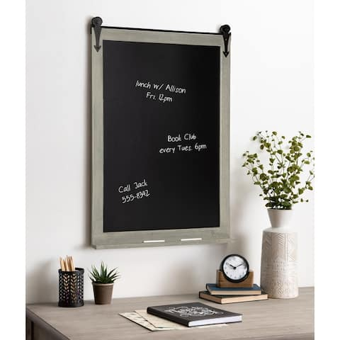 Kate and Laurel Cates Barn Door Wood-framed Chalkboard