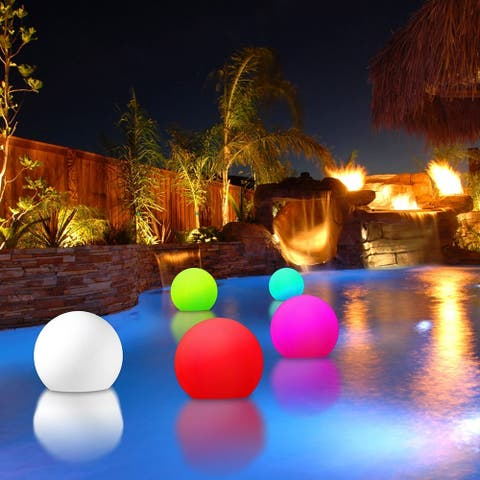 Modern Home Deluxe Floating LED Glowing Sphere w/Infrared Remote Control