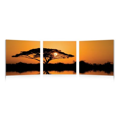 SAVANNAH SUNSET Frameless Canvas Wall Art - Multi