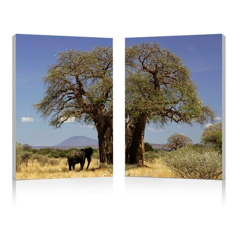 TREE OF LIFE Frameless Canvas Wall Art - Multi