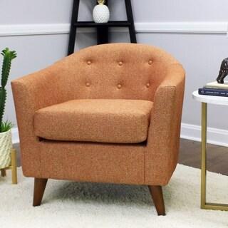 Shop Mattie Tufted Slipper Calypso Chair Free Shipping