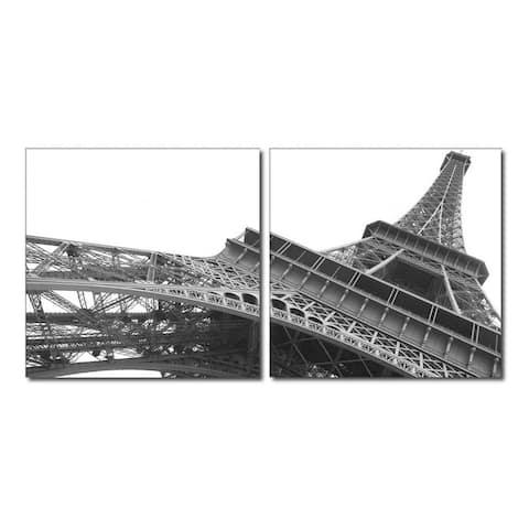 SCULPTURAL MAJESTY Frameless Canvas Wall Art - Black&White