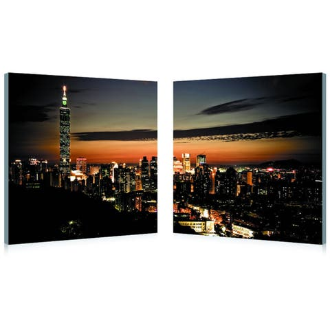 TAIPEI SKYLINE Frameless Canvas Wall Art - Multi