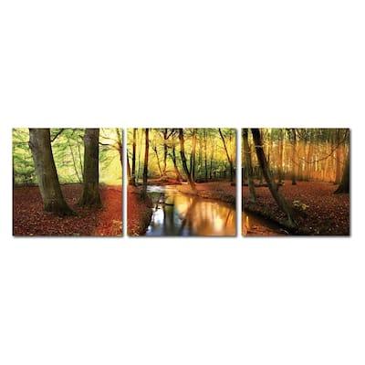FOREST OASIS Frameless Canvas Wall Art - Multi
