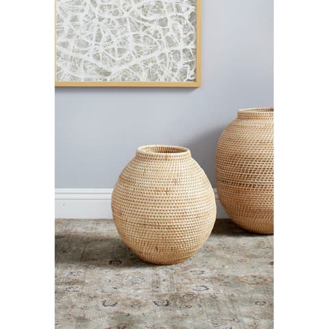 Handwoven Natural Bamboo Vase