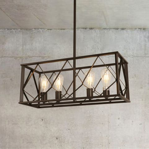 Isari Matte Brown 4-light Chandelier