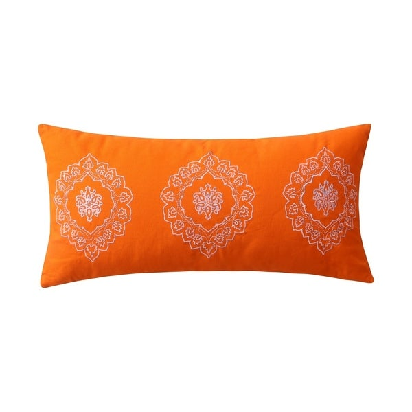 Greenland Home Fashions Medina Orange Cotton Neck Roll