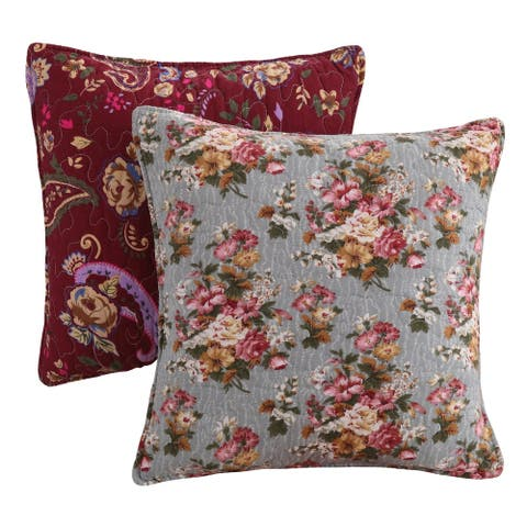 Greenland Home Fashions Antique Chic Pillow Set (Set of 2 Pillows)