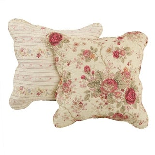 Greenland Home Fashions Antique Rose Pillow Set (Set of 2 Pillows)
