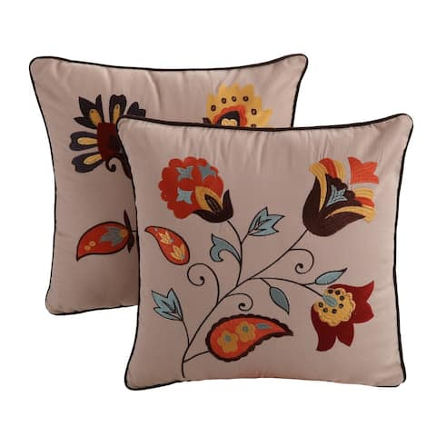 Greenland Home Fashions Andorra-Sedona Pillow Set (Set of 2 Pillows)