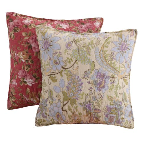Greenland Home Fashions Blooming Prairie Pillow Set (Set of 2 Pillows)