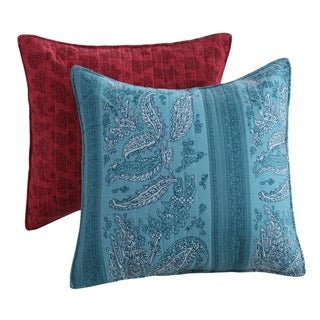 Greenland Home Fashions Cotton Quilted Cover Bohemian Lodge Pillow Set (Set of 2)