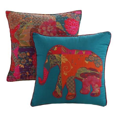 Greenland Home Fashions Jewel Pillow Set (Set of 2 Pillows)