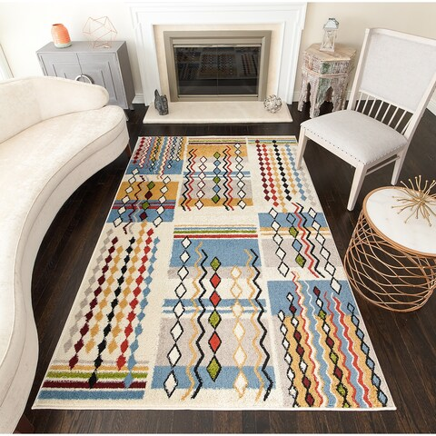 Offermon Tribal Moroccan Area Rug