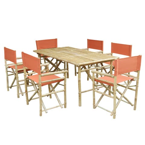 Set of 6 Director Chairs + Rectangular Table Dining