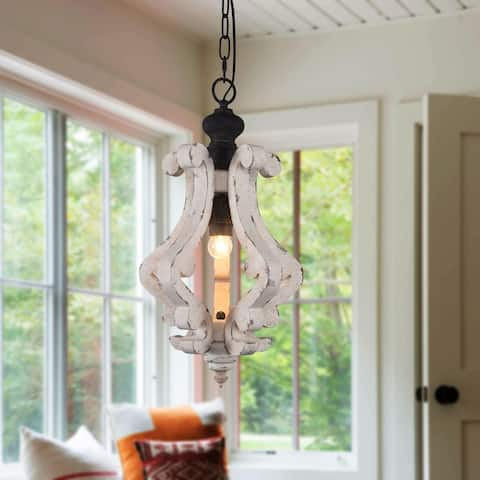 Cottage Rustic Wooden Chandelier Kitchen Island Light, mini hallway pendant lighting