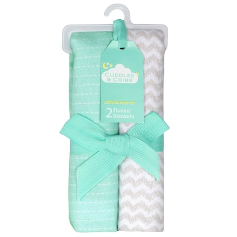 Cuddles & Cribs Cotton Flannel Receiving Blankets - 2 Count