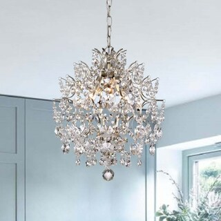 Dalia Indoor 3-light Brushed Champagne Crystal Chandelier