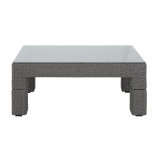 Madison Park Albert Light Grey Resin Wicker/Aluminum Outdoor Coffee Table