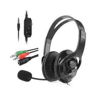 Insten Wired Stereo Gaming Headset for Playstation 4 PS4 with Mic and 3.5mm Cable Adapter