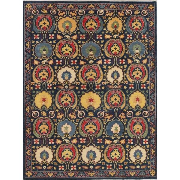 "Kazak Traditional Pakistan Oriental Hand-Knotted Area Rug - 11'10"" x 8'10"""