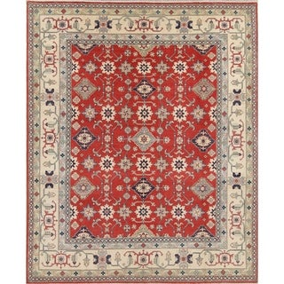 """Chechen-Kazak Hand Knotted Pakistan Oriental Traditional Area Rug - 10'1"""" x 8'1"""""""
