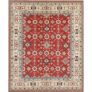 "Chechen-Kazak Hand Knotted Pakistan Oriental Traditional Area Rug - 10'1"" x 8'1"""