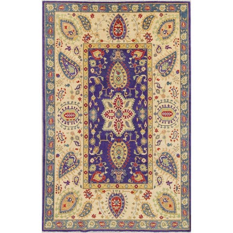 """One-of-a-Kind Traditional Pakistan Hand Knotted Oriental Area Rug - 9'7"""" x 6'5"""""""