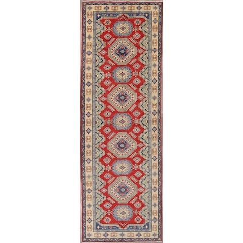 """Pakistan Kazak-Chechen Hand Knotted Wool Oriental Runner Rug - 15'10"""" x 5'4"""" Runner"""