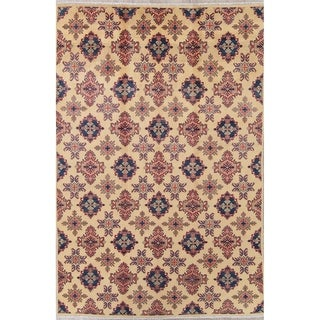 "Pakistan Traditional Kazak-Chechen Hand Knotted Wool Oriental Area Rug - 9'4"" x 6'3"""