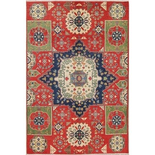 "Traditional Kazak-Chechen Hand Knotted Pakistan Oriental Area Rug - 8'0"" x 5'6"""