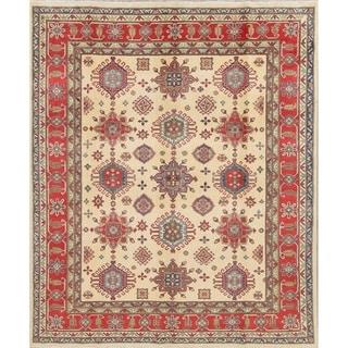 "Traditional Kazak Hand Knotted Pakistani Oriental Wool Area Rug - 9'5"" x 8'0"""