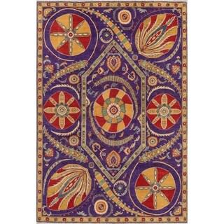 "Pakistan Kazak Traditional Hand-Knotted Wool Oriental Area Rug - 9'0"" x 6'0"""