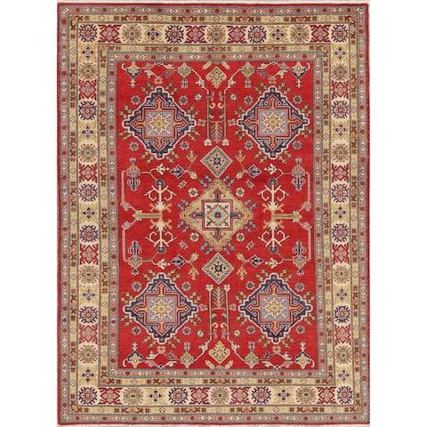 "Pakistan Kazak Hand-Knotted Wool Traditional Oriental Area Rug - 7'9"" x 5'7"""