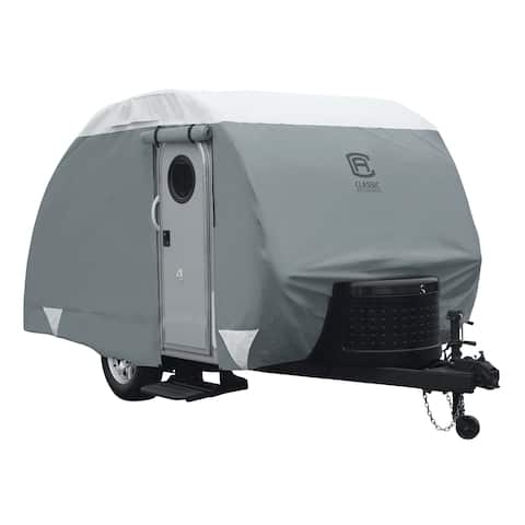 Classic Accessories Overdrive PolyPRO3 Teardrop Trailer Cover, Fits 12' - 15'L, 7'W, Model 4 (80-480-173101-RT)