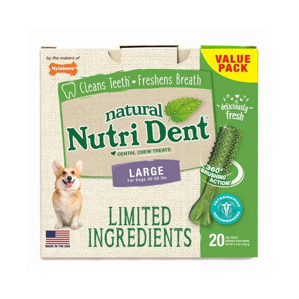 Nylabone Nutri Dent Limited Ingredient Dental Chews Fresh Breath Large 20 count