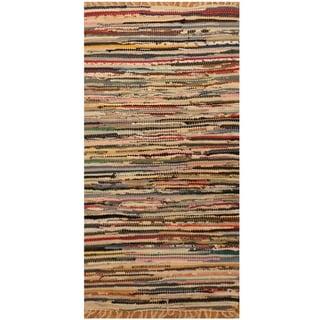 Handmade One-of-a-Kind Wool Kilim (India) - 1'9 x 3'2
