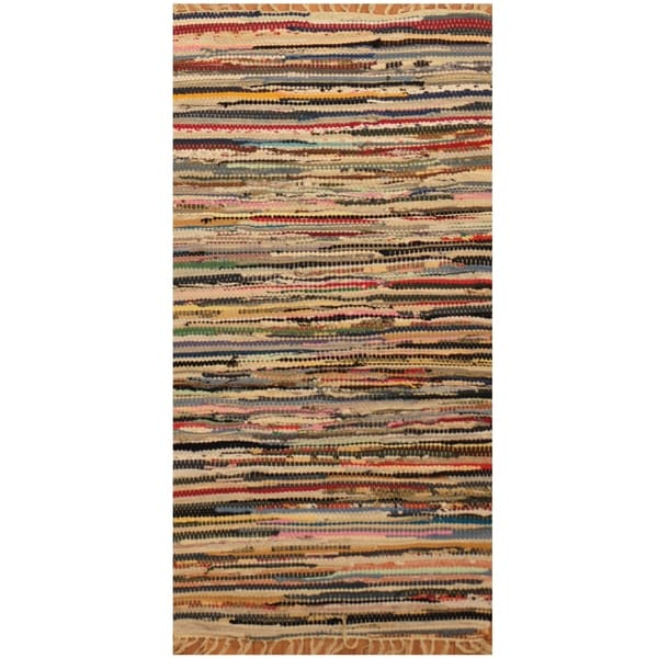 Handmade One-of-a-Kind Wool Kilim (India) - 1'9 x 3'2