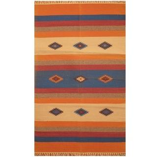 Handmade Wool Kilim (India) - 3' x 5'