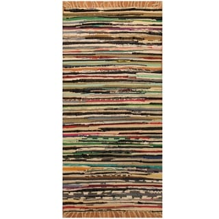 Handmade One-of-a-Kind Wool Kilim (India) - 1'9 x 3'5