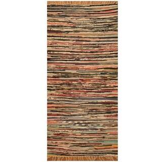 Handmade One-of-a-Kind Wool Kilim (India) - 2'4 x 2'
